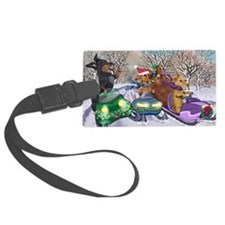 Snow Mobile Wieners Luggage Tag
