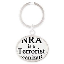 NRA Terrorist Oval Keychain