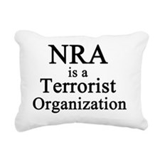 NRA Terrorist Rectangular Canvas Pillow