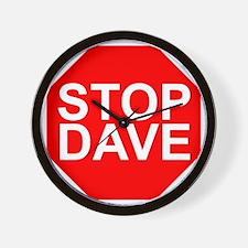 STOP DAVE Wall Clock