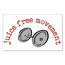 Juice Free Movement Rectangle Bumper Stickers