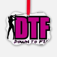 Down to Fish Hot Pink Ornament