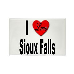 I Love Sioux Falls Rectangle Magnet