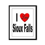 I Love Sioux Falls Framed Panel Print