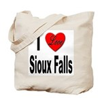 I Love Sioux Falls Tote Bag