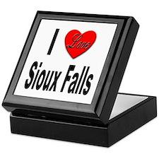 I Love Sioux Falls Keepsake Box