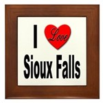 I Love Sioux Falls Framed Tile
