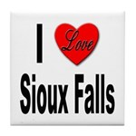 I Love Sioux Falls Tile Coaster