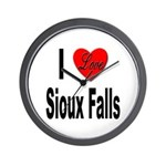 I Love Sioux Falls Wall Clock