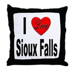 I Love Sioux Falls Throw Pillow