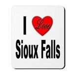 I Love Sioux Falls Mousepad