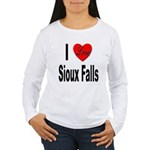 I Love Sioux Falls Women's Long Sleeve T-Shirt