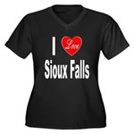 I Love Sioux Falls (Front) Women's Plus Size V-Nec