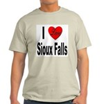 I Love Sioux Falls (Front) Light T-Shirt
