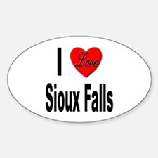 I Love Sioux Falls Oval Decal