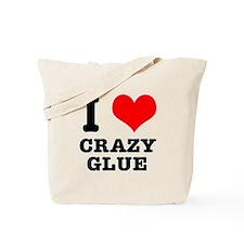I Heart (Love) Crazy Glue Tote Bag