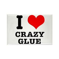 I Heart (Love) Crazy Glue Rectangle Magnet