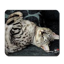 Neo cat sofa Mousepad