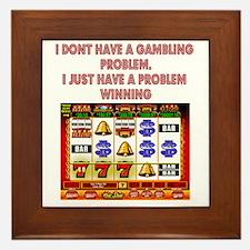 Gambling Problem Framed Tile