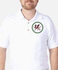 Celtic Knots And Red Dragon Golf Shirt