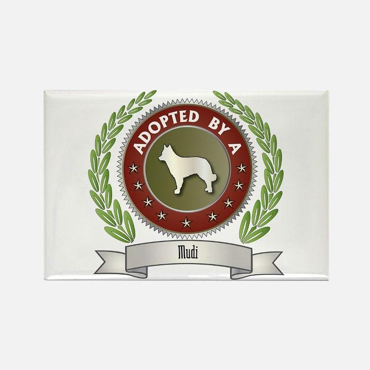 Mudi Adopted Rectangle Magnet (100 pack)