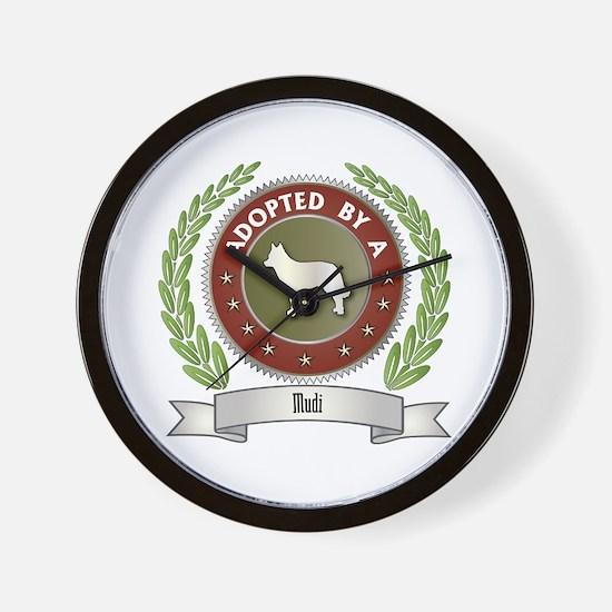 Mudi Adopted Wall Clock