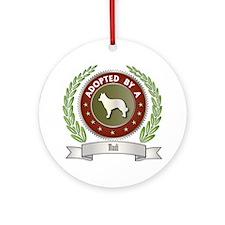 Mudi Adopted Ornament (Round)