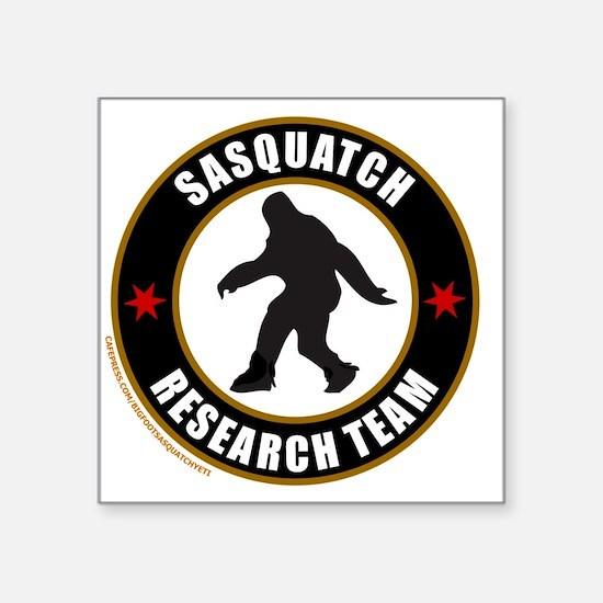 """SASQUATCH RESEARCH TEAM T-S Square Sticker 3"""" x 3"""""""