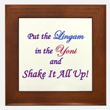 Put the Lingam in the Yoni Framed Tile