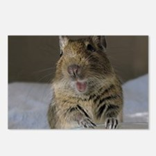 DEGU Happy_round ornament Postcards (Package of 8)