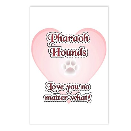 Pharaoh Hound Love U Postcards (Package of 8)