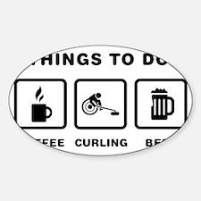 Wheelchair-Curling-ABH1 Sticker (Oval)