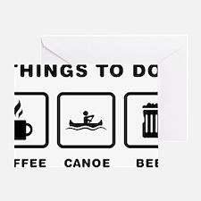 Canoeing-ABH1 Greeting Card