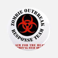 """zombie outbreak response team 3.5"""" Button"""