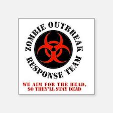"zombie outbreak response te Square Sticker 3"" x 3"""