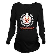 zombie outbreak resp Long Sleeve Maternity T-Shirt