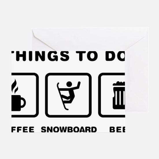 Snowboarding-ABH1 Greeting Card