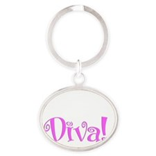 embalming diva darks Oval Keychain