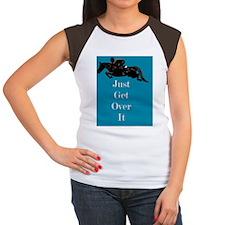 Just Get Over It Horse  Women's Cap Sleeve T-Shirt