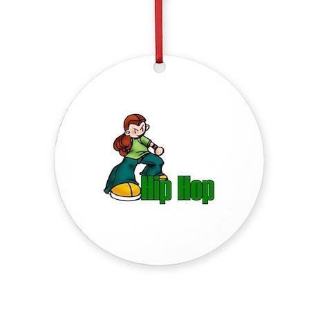 Hip Hop Dance Ornament (Round)