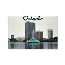 Orlando_Rect_Lake EolaFountain_Wi Rectangle Magnet