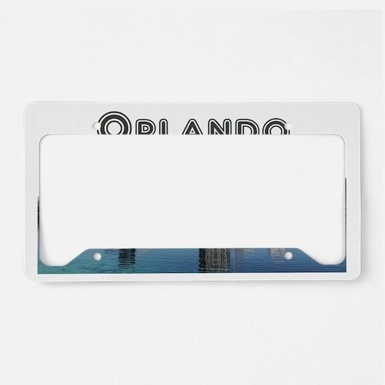 Orlando_Rect_OrlandoSkyline_W License Plate Holder