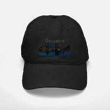 Orlando_Rect_OrlandoSkyline_WithSea Baseball Cap