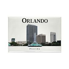 Orlando_Rect_LakeEolaFountain_NoS Rectangle Magnet