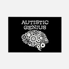 Autistic Genius Brain Rectangle Magnet (10 pack)