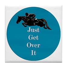 Just Get Over It Horse Jumper Tile Coaster