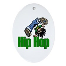 Hip Hop Dance Oval Ornament