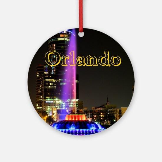 Orlando_10X8_puzzle_mousepad_LakeEo Round Ornament