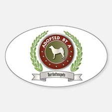 Norrbottenspets Adopted Oval Decal