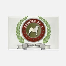 Buhund Adopted Rectangle Magnet (100 pack)